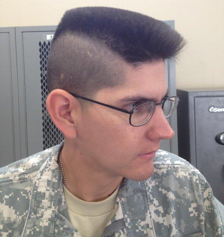 Similiar Army Mohawk Haircut Keywords